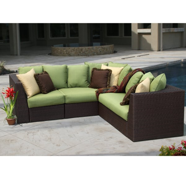 wicker patio chair cushions track accessories mandalay sectional by foremost - veranda classics on sale