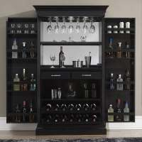 Angelina Black Wine & Bar Cabinet