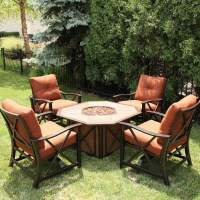 Haywood Fire Pit Set by Agio Select | Patio Furniture