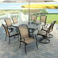 9 Piece Roma Aluminum Patio Dining Set by Agio Select