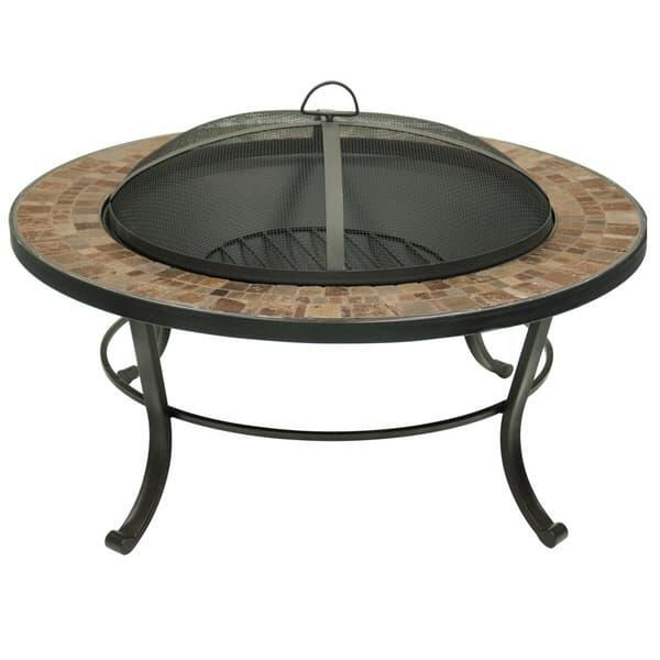 Natural Slate Tile Top Fire Pit