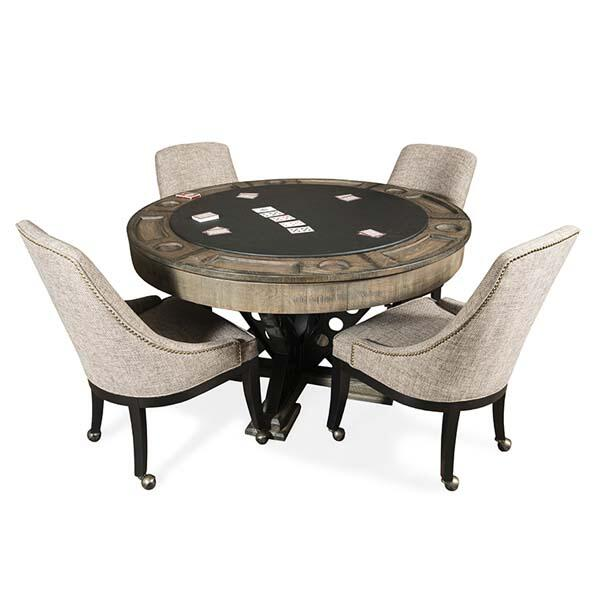 chair swing vienna amazon covers and sashes round two in one poker table set by presidential billiards