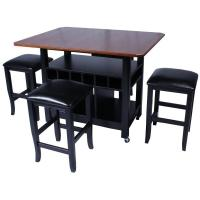 Island Getaway Pub Table Set with Bar Stools