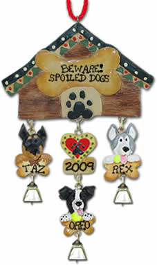 Family Christmas Ornament With Pets
