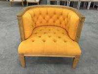 Upholstered Wooden And Fabric Leather Dining Chair ...