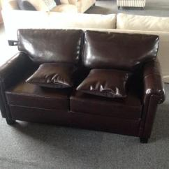 Kensington Leather Chair Metal Leg Extensions High End Living Room With Brown Sofa , And Board