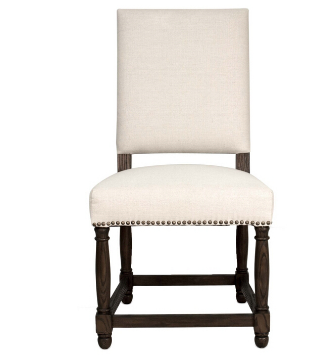 French Antique Wooden fully upholstered dining room chairs