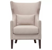 High end living room furniture Fabric Upholstered Nailhead ...
