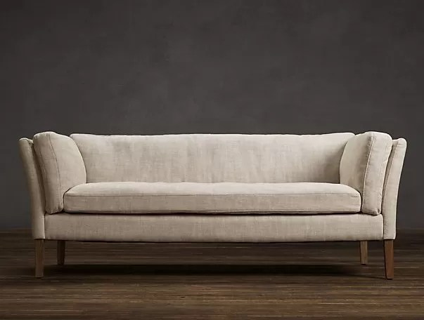 contemporary fabric sofas standard size of 3 seater sofa upholstered living room linen slipcovered