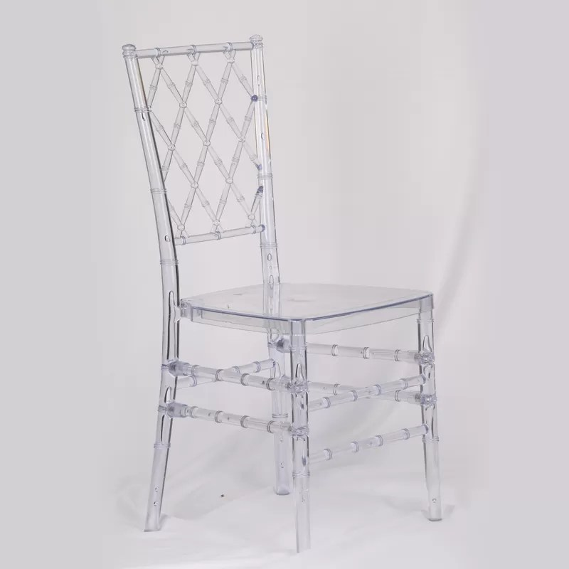plastic chiavari chair black salon chairs catering resin wooden upholstered bar stools clear diamond