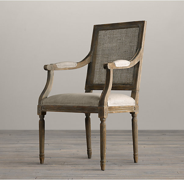 Solid Wood Oak floral fabric dining chairs  Comfortable