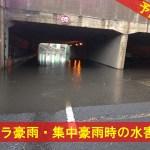 ゲリラ豪雨・集中豪雨時の水害対策