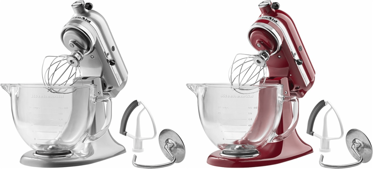 best buy kitchen aid designer kitchens nz kitchenaid tilt head stand mixer just 189 99 free 2 today only over to bestbuy com where you can score a in metallic chrome or empire red for day