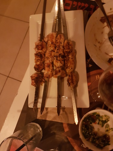 Chicken Thigh skewers