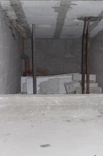 The attic - during the building stage