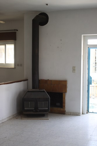 This was the fireplace when we moved in to the house.