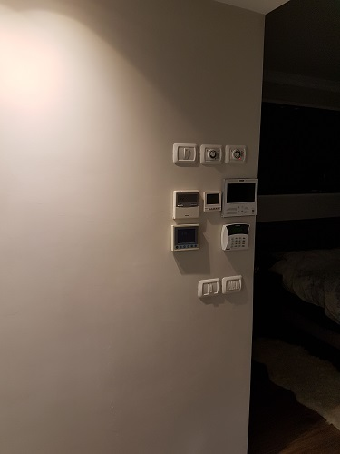The electrical panel area