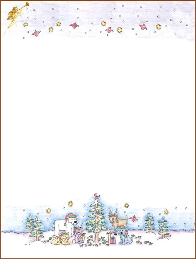 free printable christmas stationary