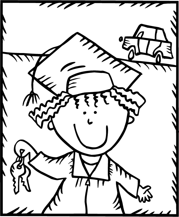 graduation for kindergarten coloring pages