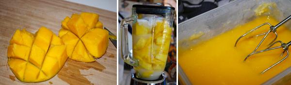 Mangos for Mango Sorbet without ice cream maker by FamilySpice.com