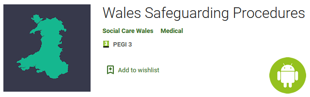 Wales Safeguarding Procedures App from Social Care Wales