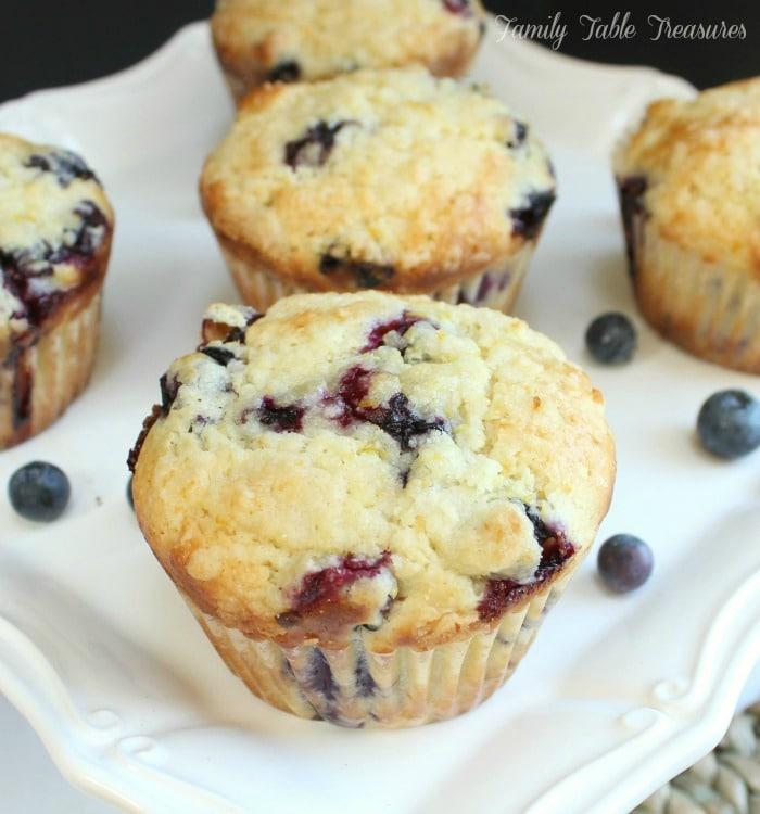 muffins on serving platter