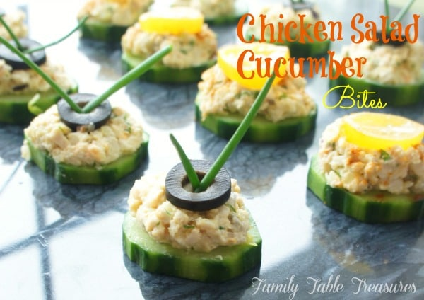 Chicken Salad {Cucumber Bites}