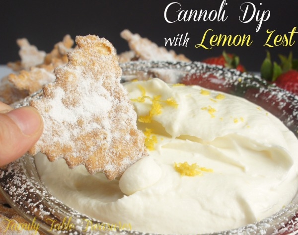 Cannoli Dip {with Lemon Zest}