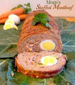 Mom's {Stuffed Meatloaf}