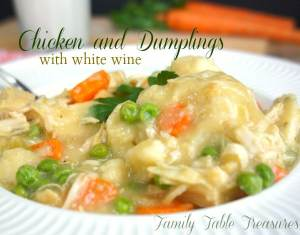 Chicken and Dumplings {with white wine}