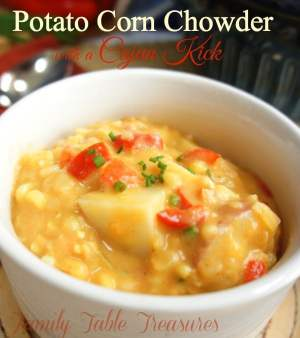 Potato Corn Chowder {with a Cajun Kick}
