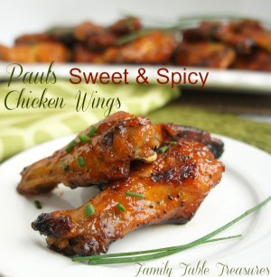 {Paul's} Sweet and Spicy Chicken Wings