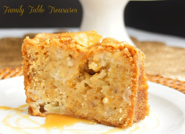 Apple Cake {with Apple Cider Caramel}