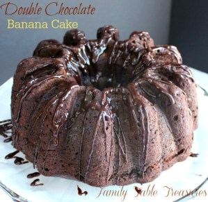 {Double} Chocolate Banana Cake {with Coconut Milk Ganache}