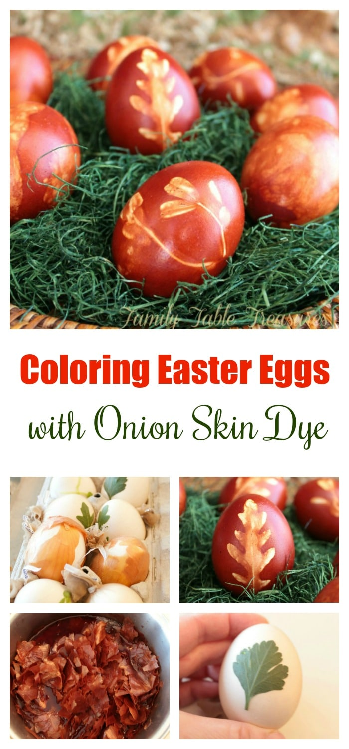 Decoration Easter Eggs with Onion Peel Dye