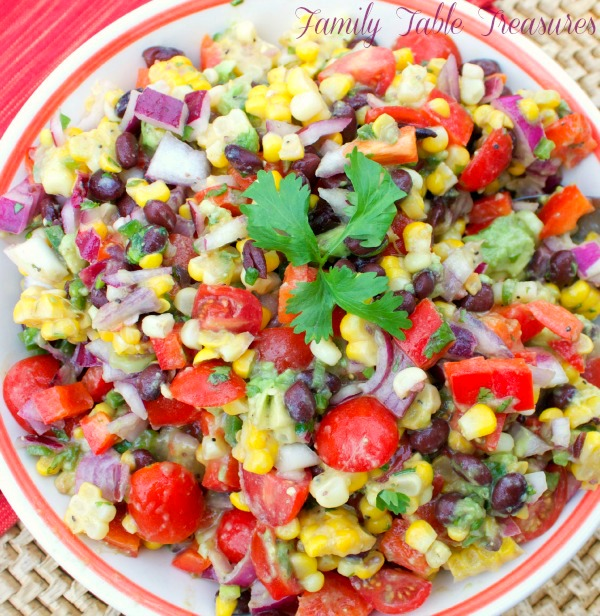 Black Bean Corn Avocado Salad