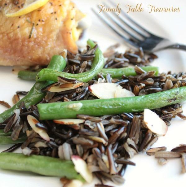 Green Bean & Wild Rice Stir Fry