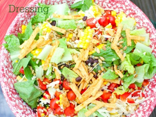 Chopped Mexican Salad {with Avocado Salad Dressing} - Family Table ...