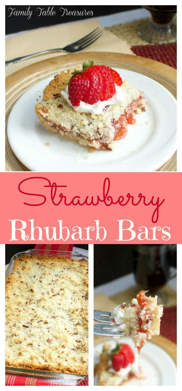 Strawberry Rhubarb Bars