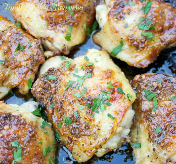 Spicy Garlic & Brown Sugar Chicken Thighs