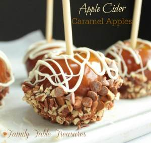 Apple Cider Caramel Apples
