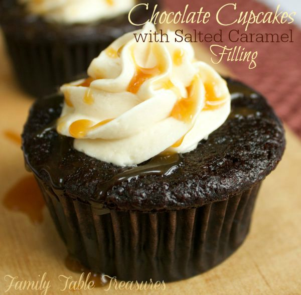 Chocolate Cupcakes with Salted Caramel Filling