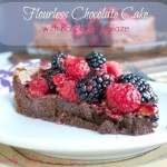 Flourless Chocolate Cake {with Raspberry Glaze}