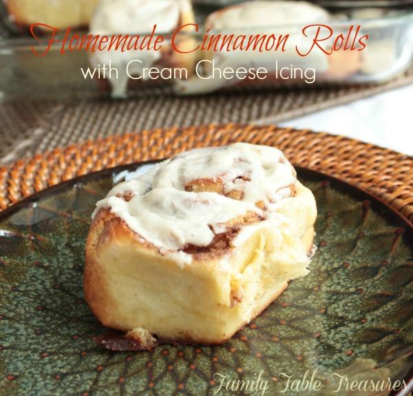 Homemade Cinnamon Rolls {with Cream Cheese Icing}
