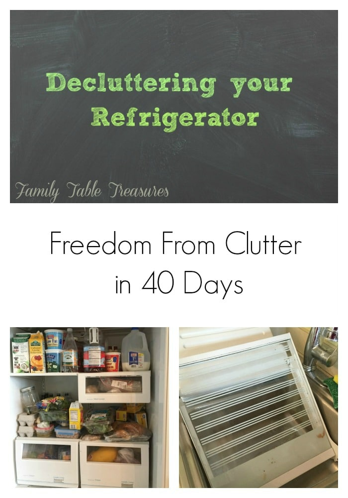 Decluttering your Refrigerator {Freedom From Clutter in 40 Days}