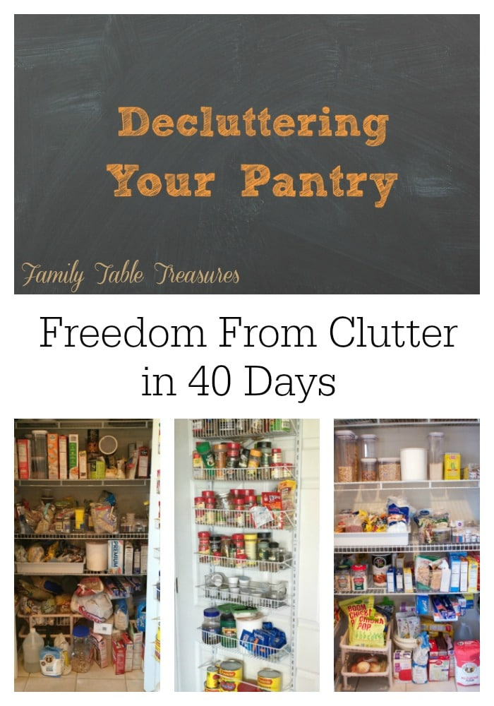 Decluttering Your Pantry {Freedom From Clutter in 40 Days}