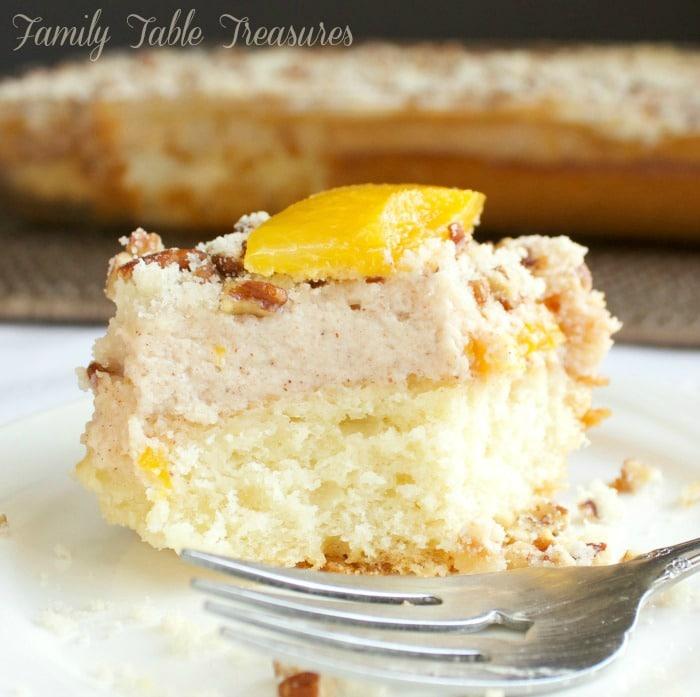 Peaches & Cream Coffee Cake
