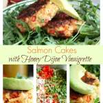 Salmon Cakes {with Honey Dijon Vinaigrette}