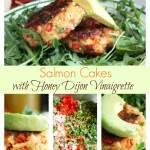 Salmon Cakes {with Honey Dijon Vinaigrette}