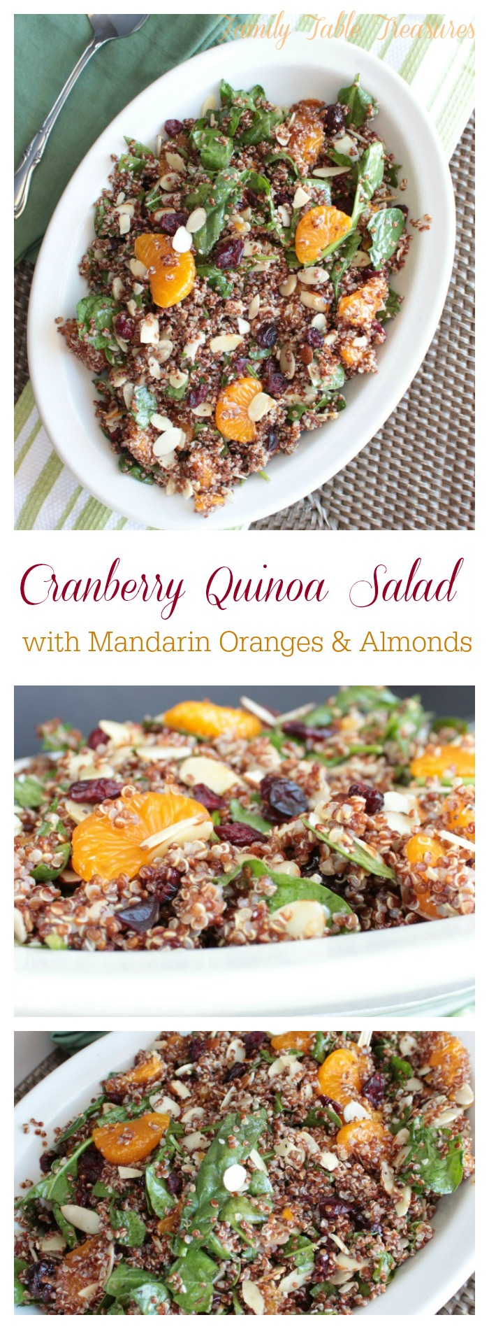 Cranberry Quinoa Salad {with Mandarin Oranges & Almonds}